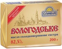 Масло Славия Вологодское 82,5% 200 г – ИМ «Обжора»