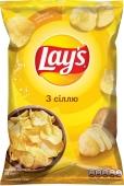 Чипсы Лейс (Lay's) соль 133 г – ІМ «Обжора»