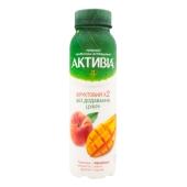 Бифидойогурт Данон Активіа 1,2% 270 г манго-персик – ИМ «Обжора»