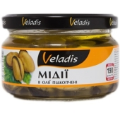 Мідії Veladis 200г підкопчені в олії – ІМ «Обжора»