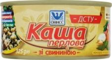 Каша перловая со свининой Онисс 325 г – ИМ «Обжора»