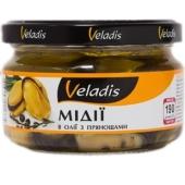 Мідії Veladis 200г з прянощами в олії – ІМ «Обжора»