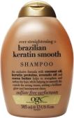 Шампунь OGX разглаживающий для укрепления волос бразильский кератин 385 мл – ИМ «Обжора»