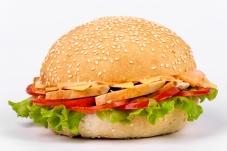 Гамбургер с куриным филе и сыром – ІМ «Обжора»