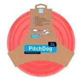 ZZZ Ігрова тарілка для апортировки PitchDog, 24 см, розова – ІМ «Обжора»