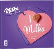 Конфеты кремово-клубничная начинка Milka Милка 100 г – ІМ «Обжора»