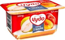 Сирок Чудо 4,2% 100г з джемом персик-груша – ІМ «Обжора»