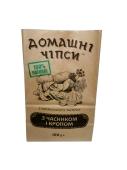 Чипсы Домашні чіпси з часником і кропом 100 г – ІМ «Обжора»