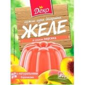 Желе Деко 80г зі смаком персика – ІМ «Обжора»