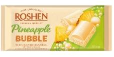Шоколад Roshen classik пористий білий зі смаком ананасу 80 г – ІМ «Обжора»
