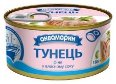 Конс, Аквамарин 185г тунець філе в с/с ключ – ІМ «Обжора»