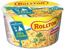 Макарони Rollton 75 г локшина яєчна зі смаком сиру та зелені відро  Новинка – ІМ «Обжора»