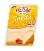 Сир Президент 150г Гауда 48% нарізка Нiдерланди – ІМ «Обжора»