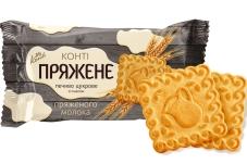 Печиво цукрове Конті Пряжене зі смаком пряженого молока 105 г – ІМ «Обжора»