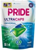 Капсули д/прання Pride Ultracaps 2в1 універсальні 14 шт – ІМ «Обжора»