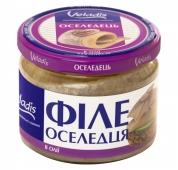 Риба Оселедець Veladis 250г філе в олії – ІМ «Обжора»