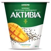 Біфідойогурт Активіа 260 г 2,5% манго-чіа – ІМ «Обжора»