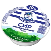 Сир Простоквашино кисломолочний 300г  10% – ІМ «Обжора»