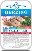 Риба Оселедець Аквавита 180г шматочки п/п  пласт – ІМ «Обжора»