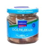 Риба Оселедець Norven 190г в кісло-сладк маринаді ст/б – ІМ «Обжора»