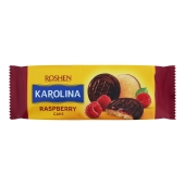 Печиво Roshen  Karolina здобне желейна начинка малина 135 г – ИМ «Обжора»