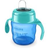 Чашка-непроливайка Avent 200 мл з м`яким носиком блакитна 6 міс. SCF551/05 – ІМ «Обжора»