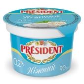 Крем сирковий Ніжний President 0,2% 90 г – ІМ «Обжора»