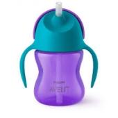 Чашка Avent 210мл з трубочкою з 9 міс. д/дівчаток SCF796/02 – ІМ «Обжора»