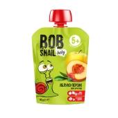 Пюре Яблуко - персик Bob the Snail 90 г – ІМ «Обжора»