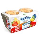 Йогурт Данон Растішка 2% 2x123 г полуниця з печивом – ІМ «Обжора»