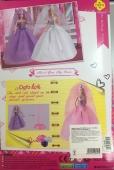 Лялька DEFA 8253 3 кольори підставка гребінець туфлі кор.33-22-5,5 см – ІМ «Обжора»