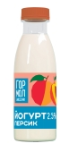 Йогурт персик Гормолзавод №1 2,5% 500 г – ІМ «Обжора»
