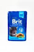 Корм консервований  для кошенят з куркою  Brit Premium 100 г – ІМ «Обжора»