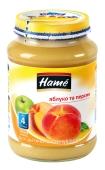 Пюре  яблуко персик Наmе 190 г – ІМ «Обжора»