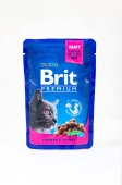 Корм консервований для котів з куркою та індичкою Brit Premium 100 г – ІМ «Обжора»