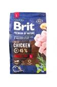 Корм Едалт L для дорослих собак великих порід з куркою Brit Premium 3 кг – ІМ «Обжора»