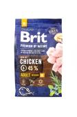 Корм Едалт М для дорослих собак середніх порід з куркою Brit Premium 3 кг – ІМ «Обжора»