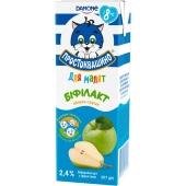 Біфідойогурт  2,4% для малят біфілакт яблуко-груша Простоквашино 207 г – ІМ «Обжора»