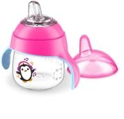 Чашка-непроливайка з носиком рожева 6 міс.+ 1шт Avent 200 мл – ІМ «Обжора»