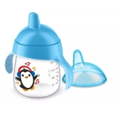 Чашка-непроливайка с носиком голубая 12 мес. SCF753/05Avent 260 мл – ІМ «Обжора»