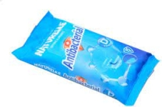 Серветки вологі `NATURELLE` antibacterial, D - panthenol, 48 шт – ІМ «Обжора»