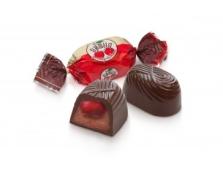 Цукерки Вишня заспиртована в шоколадному кремі Бисквит-шоколад ХБФ – ІМ «Обжора»