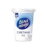 Сметана 15% 350 г Біла Лінія – ІМ «Обжора»