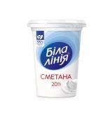 Сметана Біла Лінія 20% 350 г – ІМ «Обжора»