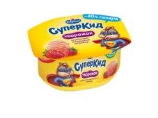 Паста для дітей полунично-маліновий пломбір Савушкін продукт 3,5% 110 г – ІМ «Обжора»