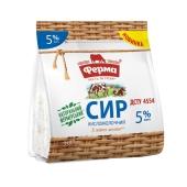 Сир кисломолочний 5% пакет Ферма 350 г – ІМ «Обжора»
