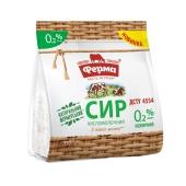 Сир кисломолочний  нежирний пакет 0.2% Ферма 350 г – ІМ «Обжора»