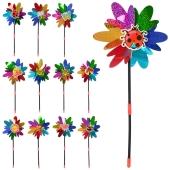 Вітрячок M 0801 квітка розмір маленький паличка фольга мікс видів діам 19,5см – ІМ «Обжора»