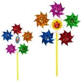 Вітрячок M 5743 вертушка розмір маленький діам 7см 5квіток фольга 2види розібр – ІМ «Обжора»