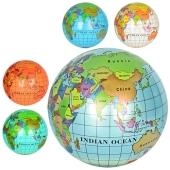 М`яч дитячий MS 0477 9`, глобус, малюнок, ПВХ, 75 г., 6 кольорів, кул. – ІМ «Обжора»